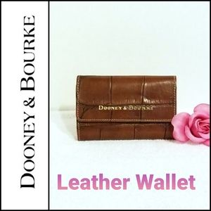 Dooney & Bourke Croco Brown Leather Trifold Wallet